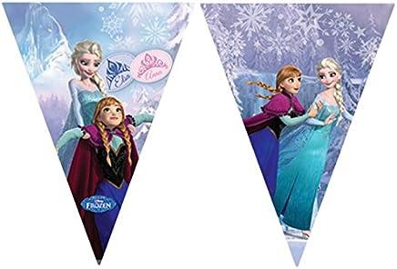 Unique Party 72116 - 2.6m Disney Frozen Bunting Banner in Light Blue