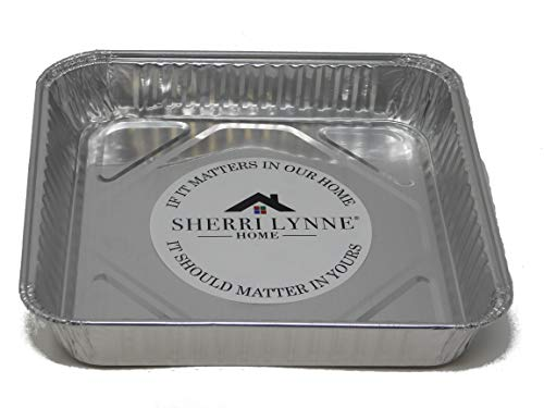 Sherri Lynne Home 8'' x 8'' Baking Pans - Disposable Aluminum Foil Baking Tins, Ideal for Brownie, Standard Size, 30 Pack by Sherri Lynne Home