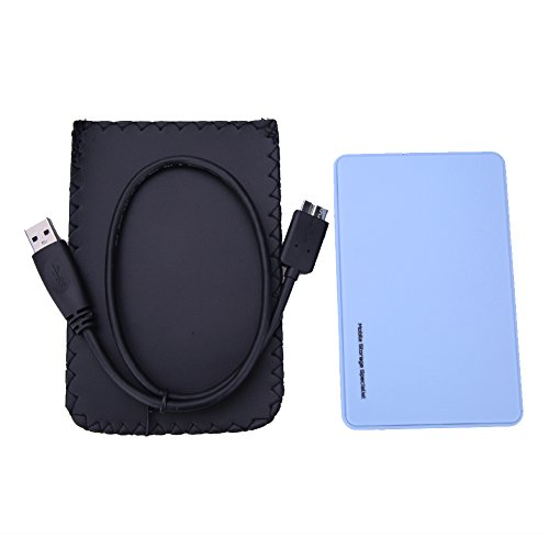 "Price comparison product image TTnight 2.5"" USB 3.0 SATA Hd Box HDD Hard Drive External Enclosure Case with USB Cable (Blue)"