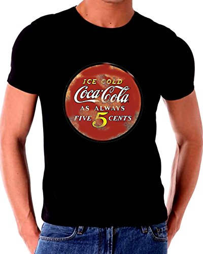 (Old Tin Sign T Shirt Distressed Old Coca Cola 5 cents Sign)