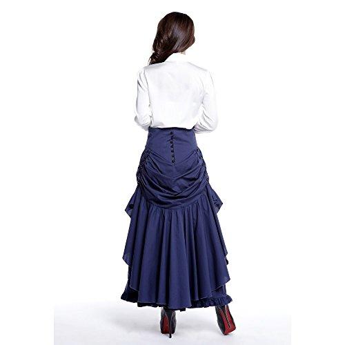 Algodón estrella chic Gothic 3 forma encaje Azul falda