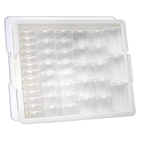 Elizabeth Ward Bead Storage Solutions: 45-Piece Assorted Storage Tray - Bead Organizer with 42 Containers of Various Sizes, a Tray and Lid for Beads and More from Darice
