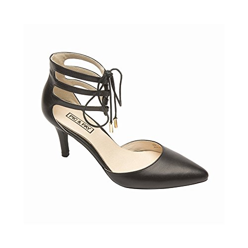 Lace Up Patent Leather Pumps - Pic/Pay Arama Women's Pumps - Lace-Up Suede High Heel Black Leather 9M