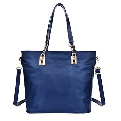 Bolsos Sra Yy.f Bolsos De Moda Señoras Simple PU Bolso De Cuero Bolso Práctico Interna Blue