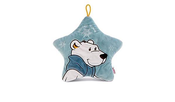 Blue Nici 42039 Winter hot-Water Bottle Polar Bear Bignic in Star-Shape Approx Capacity 500 ml 33 x 33 cm