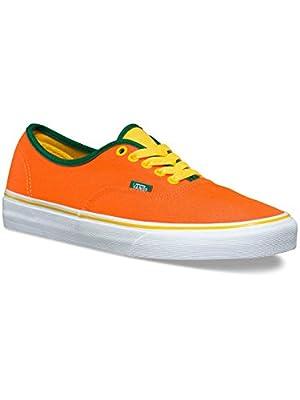 Vans Men's Authentic Vn0004ml Shoe, Neon Orange/Cyber, 7.5