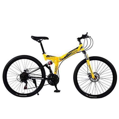 Floweworld Dirt Bike Mountain Bike Exercise Bike Road Bike Mens Bike Girls Bike 24 Inch Lightweight Mini Folding Bike…