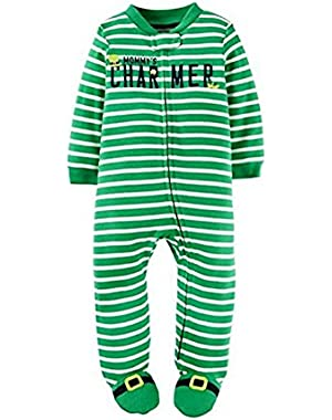 Carter's Mommy's CHARMER St.Patrick's Day Sleeper Sleep and Play Pajamas 3 Months