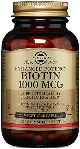 Solgar – Biotin 1,000 mcg, 250 Vegetable Capsules