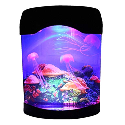 - CALOVER Ocean Decor Electric Jellyfish Tank Aquarium Night Light with Color Changing Light Effects Home Decorations for Living Room