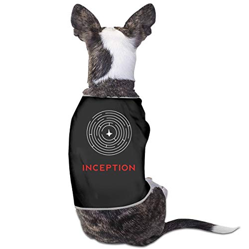 MONIKAL Pet Dog Cat Clothes Fashion-Style-Tee-Inception Fashion and Funny Puppy Clothes Soft Puppy Shirt Vest-Style Pet Costumes Black