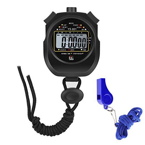 AIOIA Stopwatch, Sport Stopwatch Timer met fluitje, Digitale Stopwatch Timer met Fluitje Waterdicht voor Fitness…