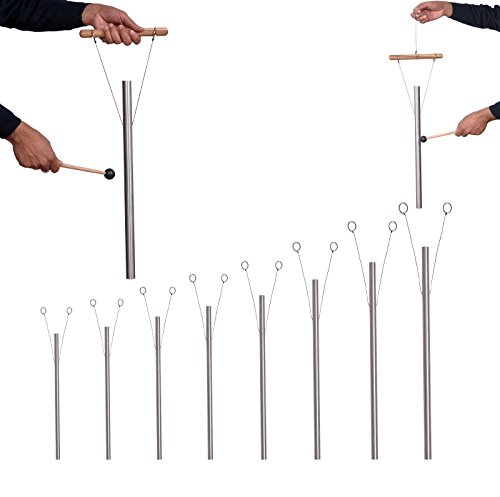 8 Harmonic Healing Tuned Pipes louder than tuning fork with mallet, hand stand & Fast shipping - Os Tuned Pipe
