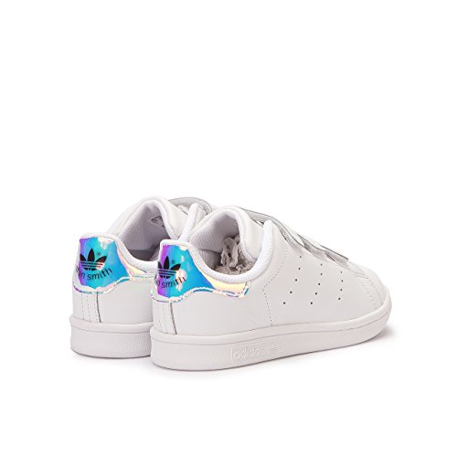 Amazon.com: Adidas Little Kids Stan Smith (silver / metallic silver / footwear white) Size 1 US: ADIDAS: Shoes