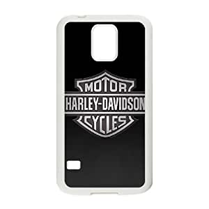 Samsung Galaxy S5 Cell Phone Case White Harley Davidson Hpkc