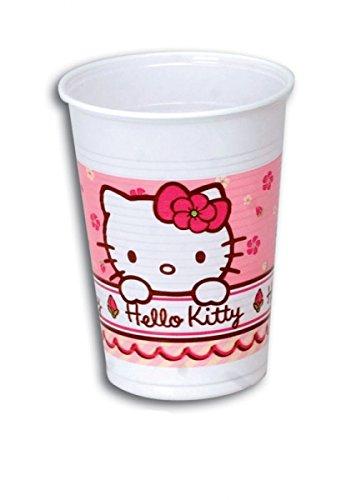 Kokliko Hello Kitty Vaso Cumpleaños, 10 Unidades: Amazon.es ...
