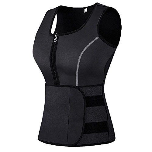 Focus Belt Fashion Womens (Mpeter Sweat Vest for Women, Slimming Body Shaper, Weight Loss Large Black)