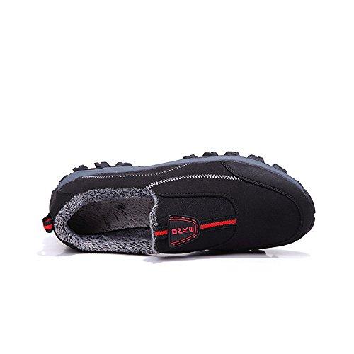 4 5 Chaud Taille Chaussures Monrinda Slip Randonne Noir Fur Course Doubl De Baskets Impermable En Cuir D'hiver Marche Womens Bottes Air Plein Confortable On 9 Mens Daim BpnSqgfp