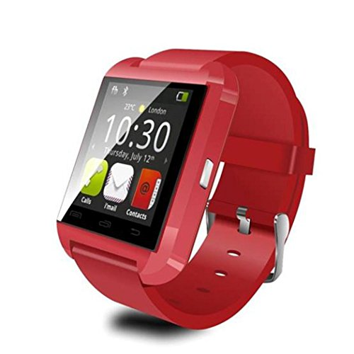 Ecosin® Smart Bluetooth Watch Phone Mate For IOS Android Black simple and generous 40*47*9.9mm (C)