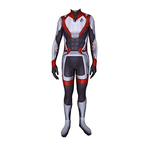 Unisex Lycra Spandex Zentai Halloween Avengers Endgame Quantum shirt Cosplay Costumes Adult/Kids 3D Style (Adults-M) Black and White ()