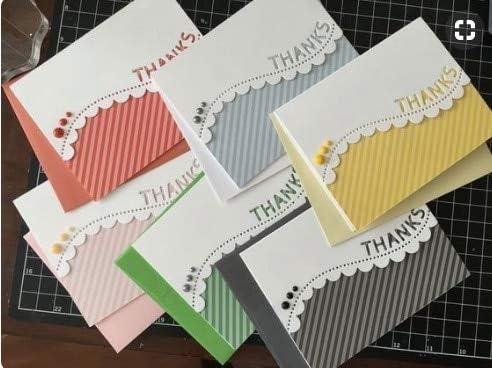 Amazon.com: Thanks Wave Edge Border Metal Cutting Dies Stencils for DIY Scrapbooking Decorative Embossing Card Making