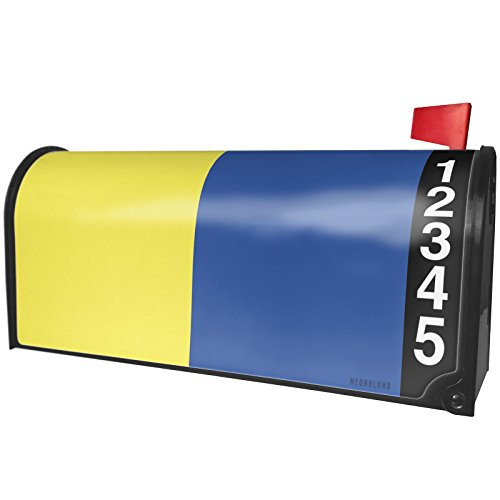 (NEONBLOND K Kilo Flag International Maritime Signal Nautical Flag Magnetic Mailbox Cover Custom Numbers)