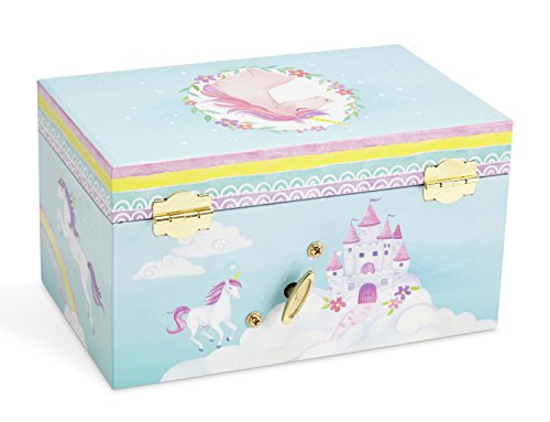 JewelKeeper Girl's Musical Jewelry Storage Box Pullout Drawer, Rainbow Unicorn Design,Somewhere Over The Rainbow Tune by JewelKeeper (Image #4)
