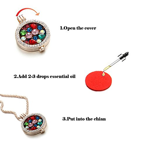 Sunflower Oil Necklace - + Washable Pads for