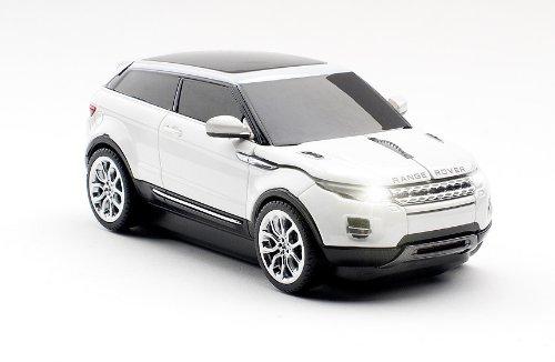 Click Car CCM660172 Range Rover Evoque Wireless Optical Mouse, White