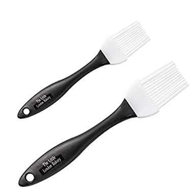 Pastry & Basting Brush Set of 2 - Silicone Pastry Brushes - Suitable Meat Basting Brush - BBQ Meat Basting Brushes - Cake & Pastry Brushes - Dishwasher Safe - Eco-Friendly - 2 Brush Sizes - Easy Clean
