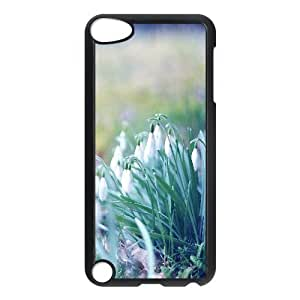 Boast Diy Ipod Touch 5 case cover Shock Absorb Snowdrops in the Grass, Grass Ipod Touch 5 case covers M2318JnmFa7 for Boys