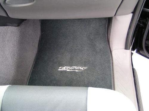 Lightning F150 Lloyd VELOURTEX Custom Floor MATS 99-04 Ford Compatible SVT F150 Lightning with Lightning Logo Pair