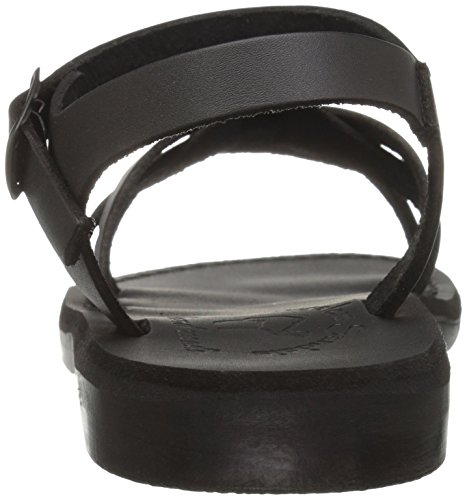 Flat Women's Sandals Jerusalem Miriam Black xWUHSSAn