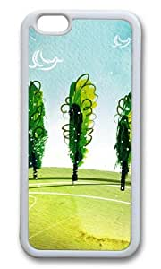 MOKSHOP Adorable Breath of spring landscape Soft Case Protective Shell Cell Phone Cover For Apple Iphone 6 Plus (5.5 Inch) - TPU White