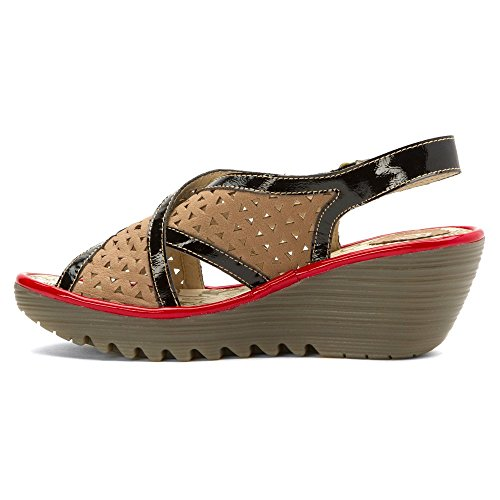 FLY London Womens YOPP647FLY Sandals Taupe ALqkmfGT