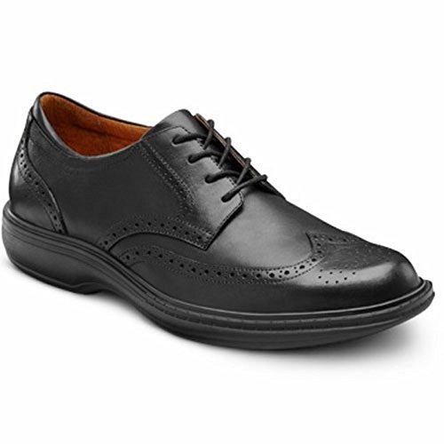 Therapeutic Shoe Dress Extra Lace Depth Diabetic Black Comfort Leather Dr Wing Men's wqAnT0tA8f