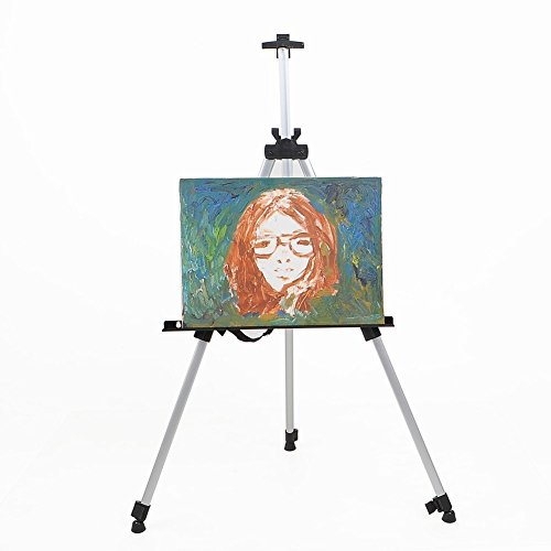 Aluminum Field Easel for Painting - Bemaxy 21''-66'' Adjustable Drawing Tripod, Holder, Stand with Handy Carrying Storage Bag for Outdoor Table-Top Floor Drawing Field Painting Sketching (White) by Bemaxy