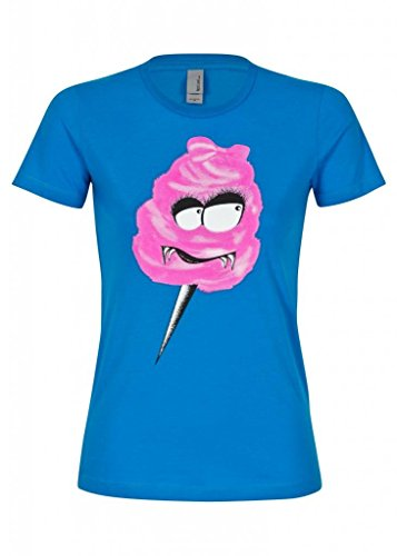 Women's Adorable Evil Cotton Candy Monster Tee T-Shirt - Size Large