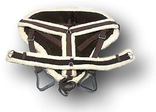 - D.A. Brand Draft Size Brown Suede Bareback Pad w/Girth and Breast Collar Equine