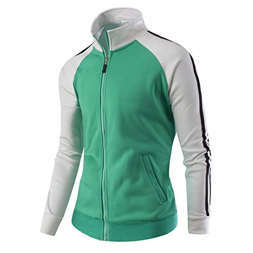 iLXHD Sport Casual Zipper Stand Neck Long Sleeve Running Jumper Jacket Coat