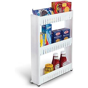 Amazon Com Laundry Room Organizer And Slim Storage Cart