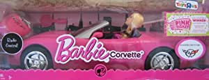 Barbie Light Pink Corvette Convertible Car & Doll Set