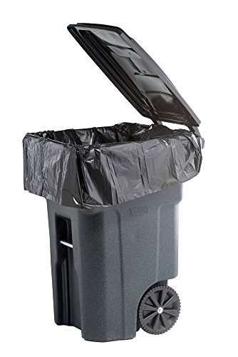 PlasticMill 64 Gallon Important Duty 1.5 Mil Trash Can Liners for Outdoor Garbage Cans - 10 Bags/case