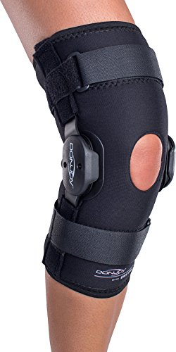 DonJoy Deluxe Hinged Knee Brace, Drytex Sleeve, Open Popliteal, Medium