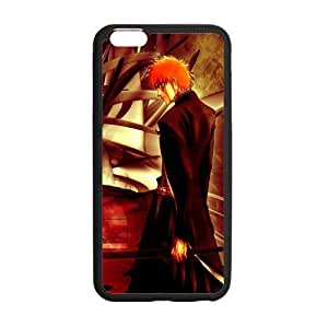 Bleach, Anime iphone6 Cover, iphone 6 plus TPU Gel Case, iphone 6 Cover, Custom TPU iphone 6 Back Case, 5.5 inch, Black/White