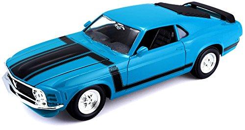 1970 Ford Mustang Boss 302 Yellow 1:24 Model Car