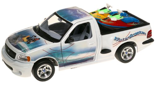 Burago 1/21 Scale Diecast - 3338 Ford SVT F150 Lightning Waterscooter Jet Skis B000066957