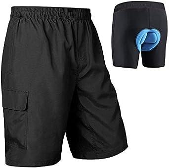 BALEAF Mens Mountain Bike Shorts 3D Padded MTB Bicycle Shorts Quick Dry Lightweight UPF 50+