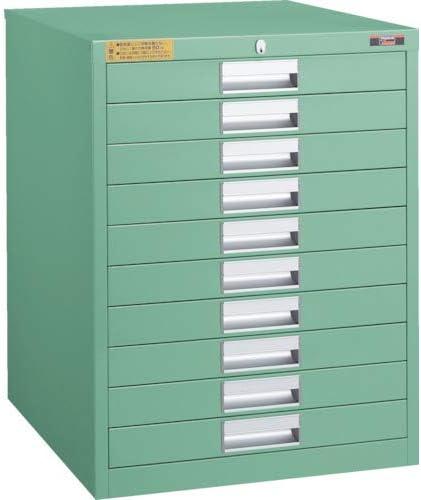 TRUSCO LVE型キャビネット 500X550XH650 引出10段 LVE655