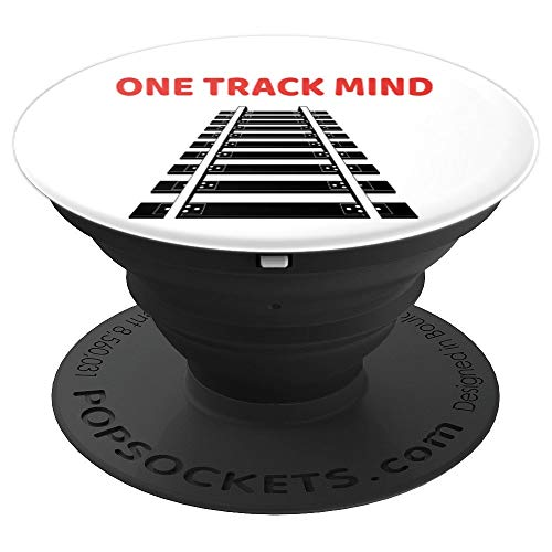 Train Railroad Locomotive Engineer Conductor - PopSockets Grip and Stand for Phones and Tablets (Telephone Locomotive)